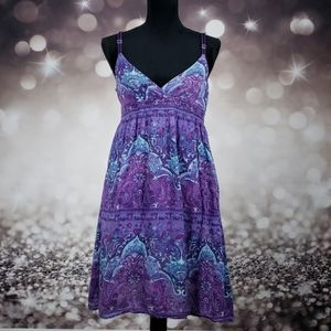 Purple Haze Blue Dream Boho Tunic Dress